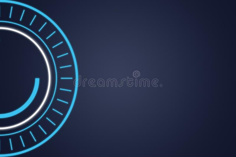 Fond futuriste bleu de technologie, illustration illustration de vecteur