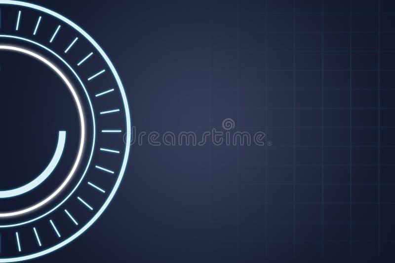 Fond futuriste bleu de technologie, illustration illustration stock