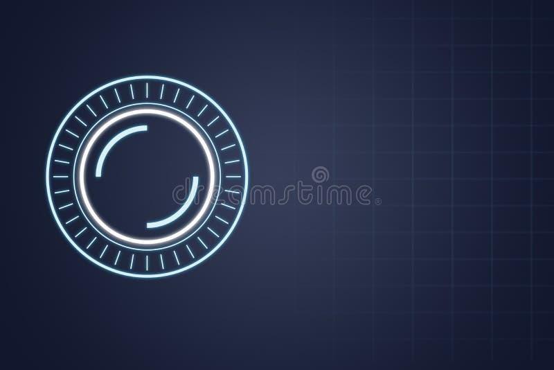 Fond futuriste bleu de technologie, illustration illustration libre de droits