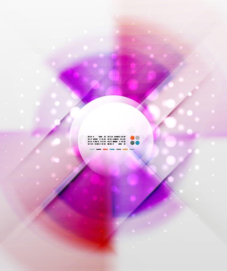 Fond futuriste coloré radial illustration libre de droits