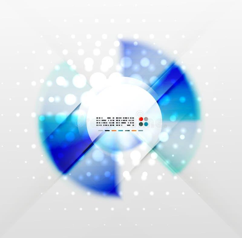 Fond futuriste coloré radial illustration stock