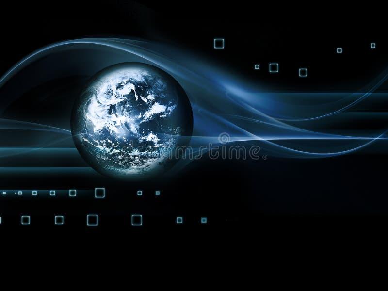 Fond futuriste d'abrégé sur technologie illustration stock