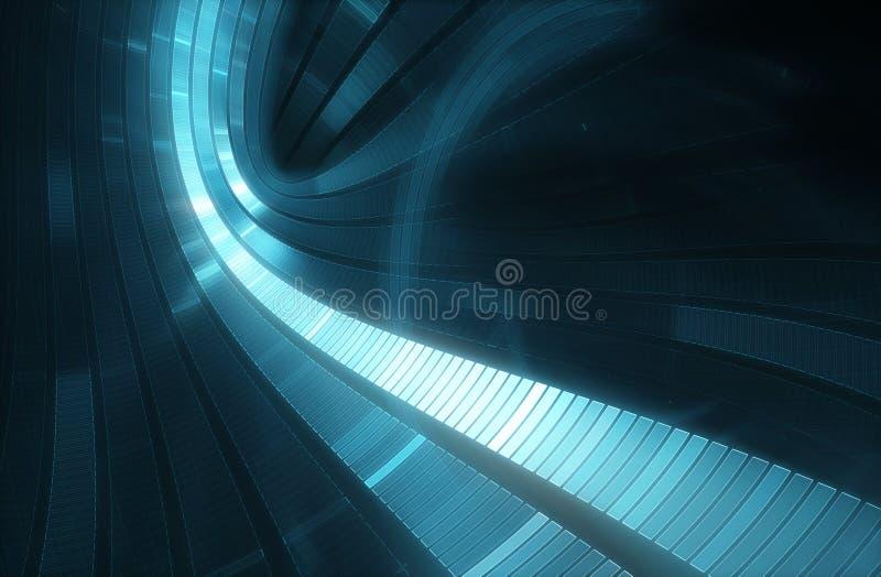 fond futuriste de la science-fiction du résumé 3D illustration de vecteur