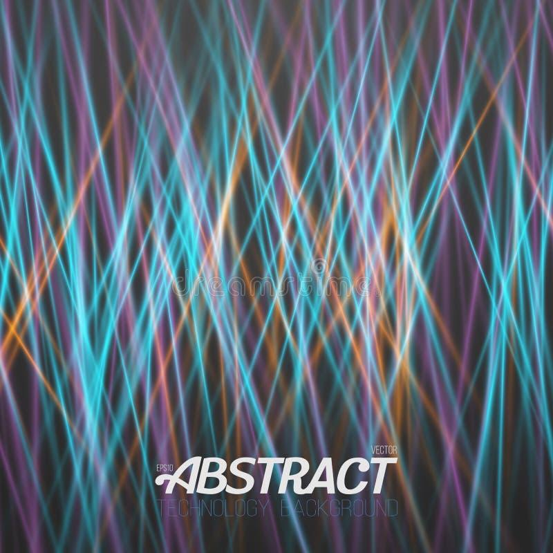 Fond futuriste de peinture de lumière laser illustration stock