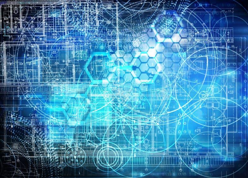 Fond futuriste de technologie illustration stock