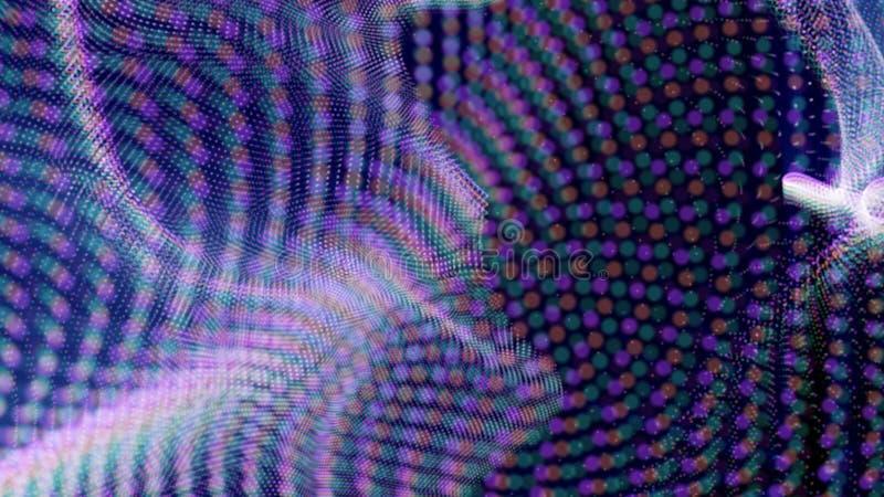 Fond futuriste de tissu de syst?me de particules avec Bokeh - mod?le de bruit de fractale photo stock