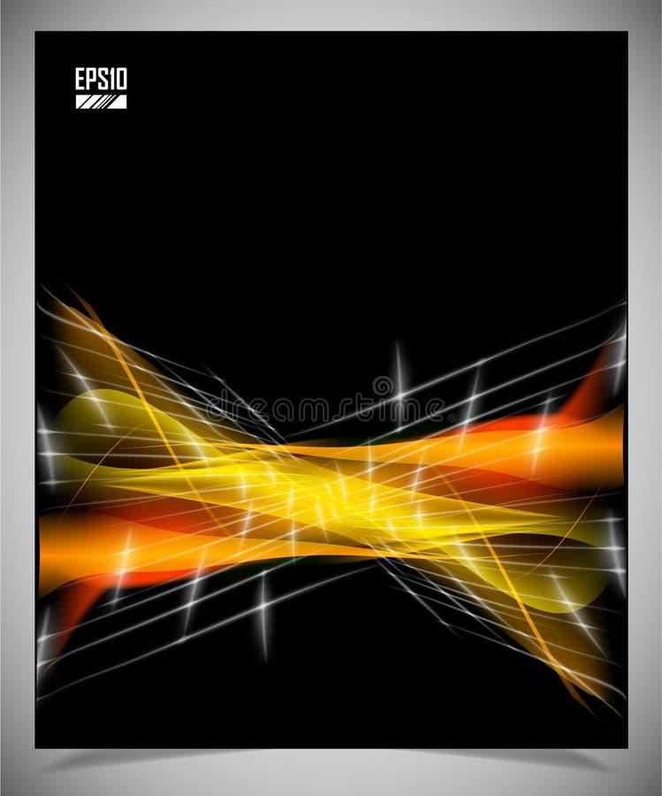 Fond futuriste moderne noir et jaune illustration libre de droits