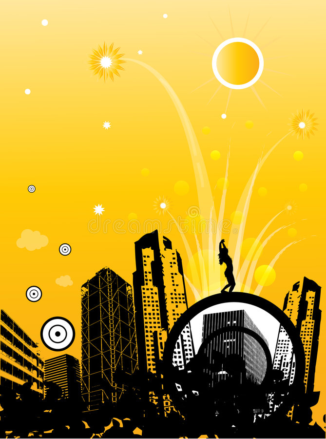 Fond génial abstrait de ville illustration libre de droits