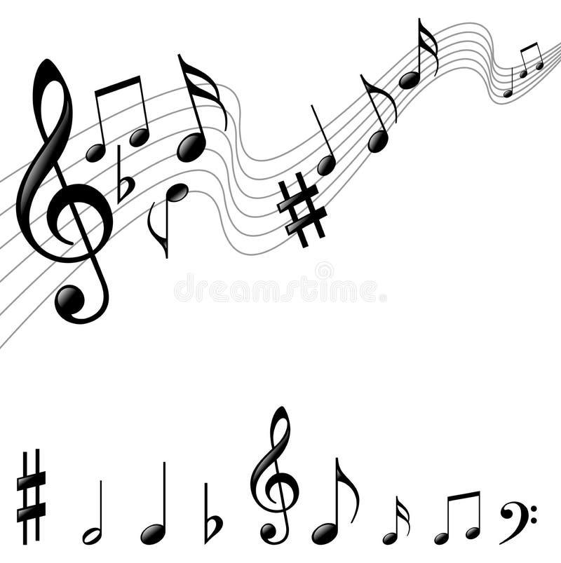 Fond génial de musique illustration libre de droits