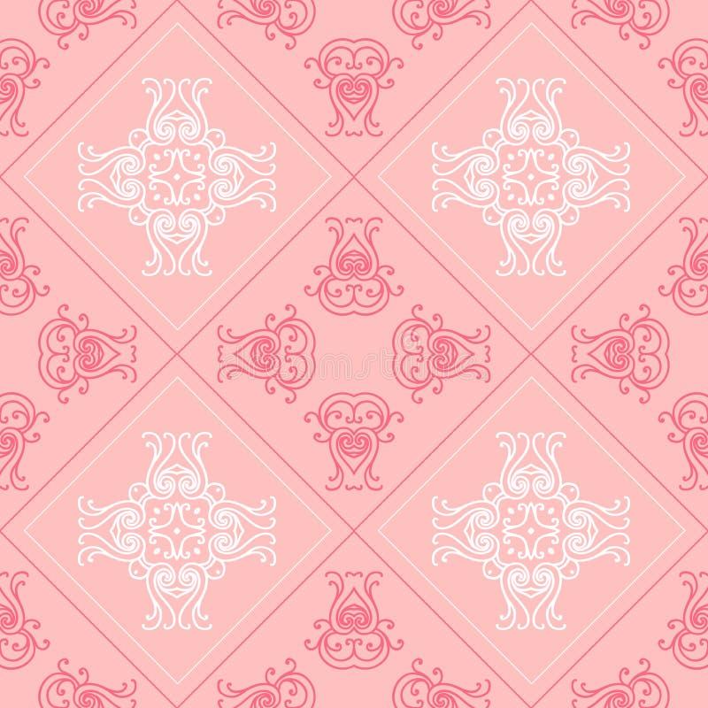 Fond géométrique élégant fait en modèle décoratif floral Vecteur image libre de droits
