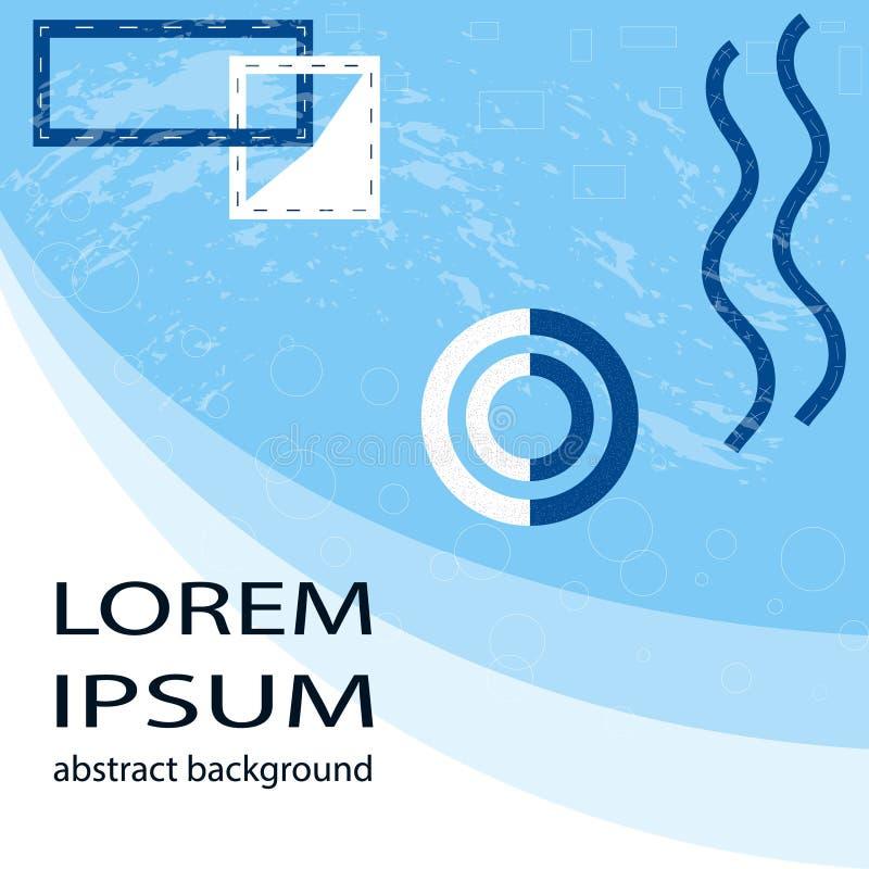 Fond géométrique abstrait avec l'élément de textdesign Conception graphique à la mode pour l'affiche de bannière, couverture de c illustration libre de droits