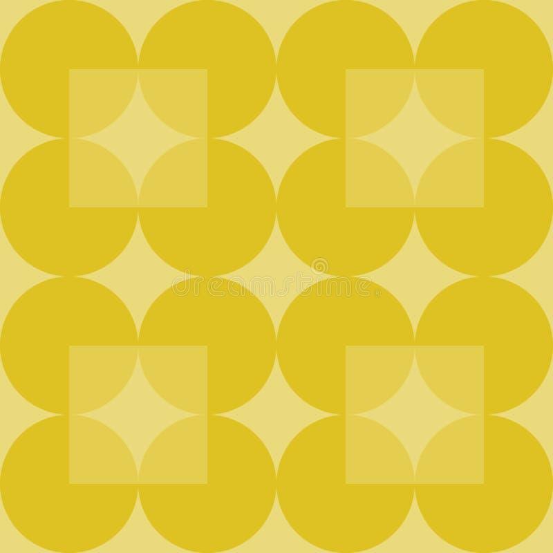 Fond géométrique abstrait avec les cercles et les places jaunes illustration libre de droits