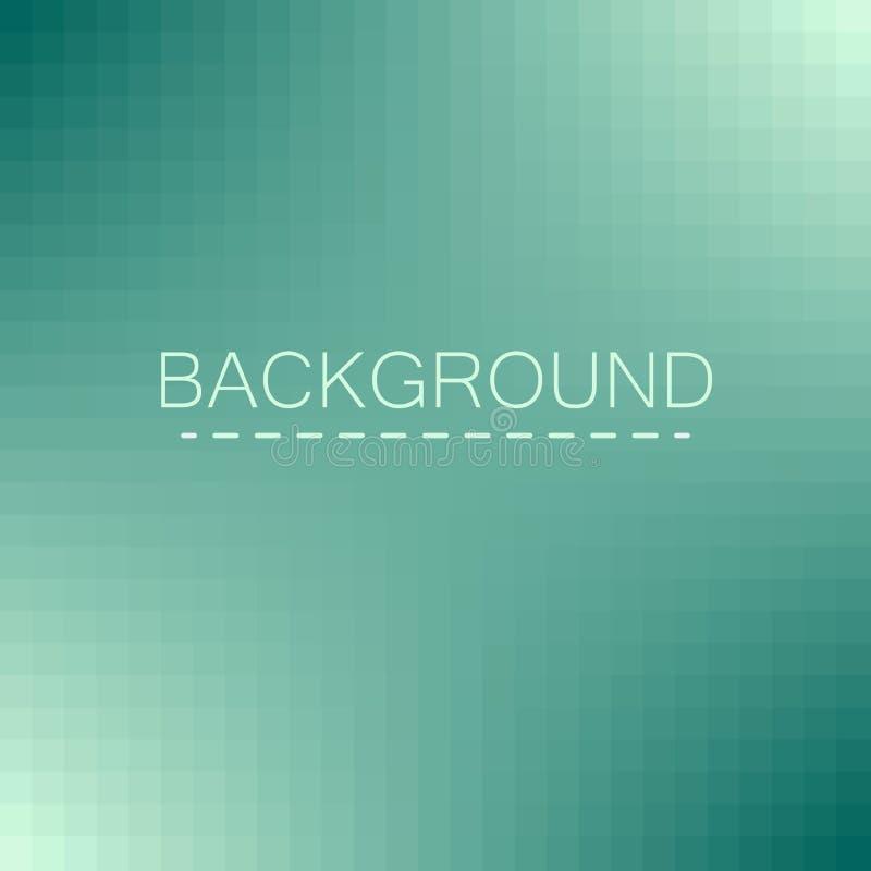 Fond géométrique abstrait bleu pixel de gradient Blocs de mosaïque illustration de vecteur