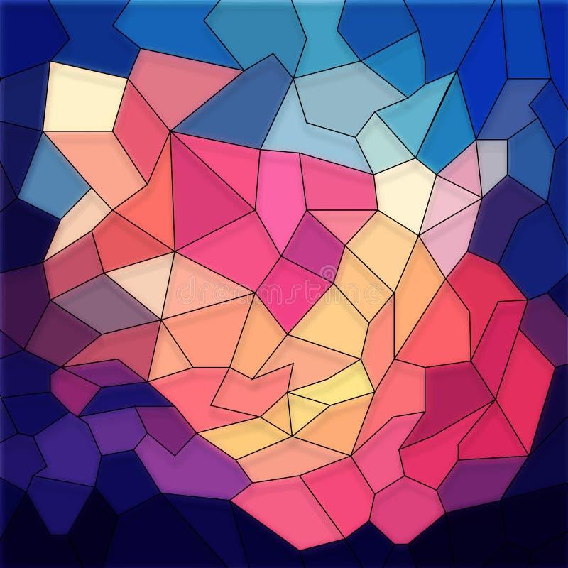 Fond géométrique abstrait coloré illustration libre de droits