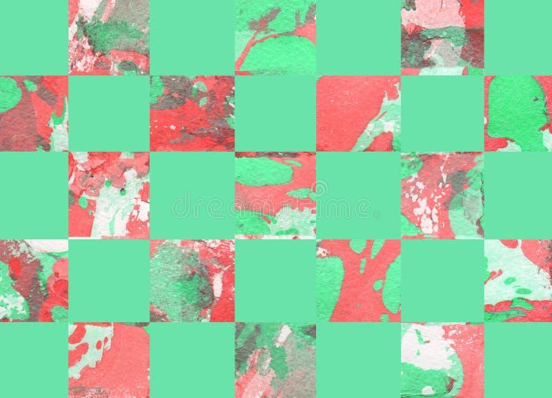 Fond géométrique abstrait coloré avec des places illustration libre de droits