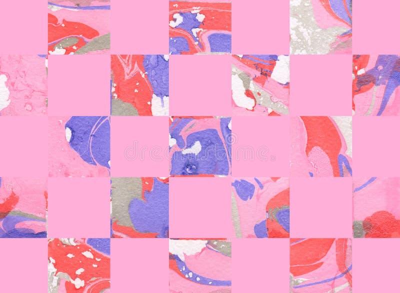 Fond géométrique abstrait coloré avec des places illustration stock