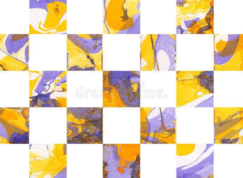 Fond géométrique abstrait coloré avec des places illustration de vecteur