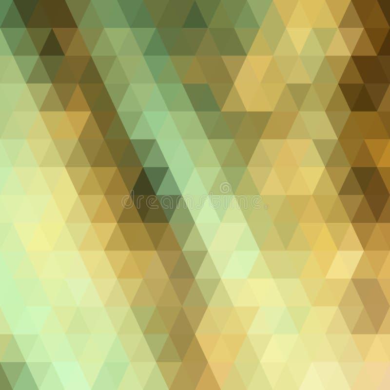 Fond géométrique abstrait coloré avec la bas-poly illustration de vecteur de polygones triangulaires illustration libre de droits