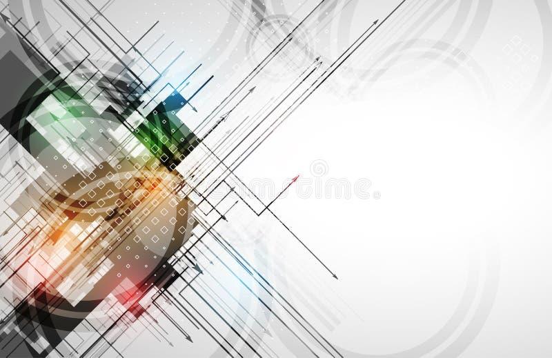 Fond géométrique abstrait coloré pour la conception illustration stock