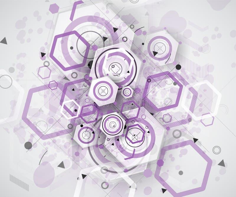 Fond géométrique abstrait coloré pour la conception illustration de vecteur