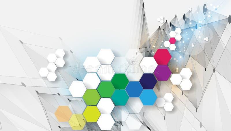 Fond géométrique abstrait coloré pour la conception illustration libre de droits