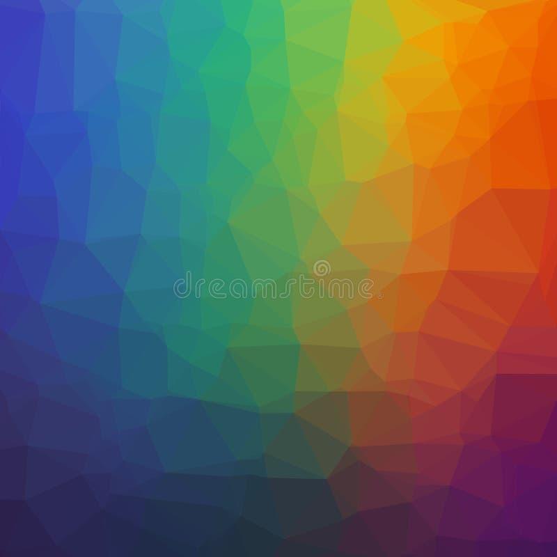 Fond géométrique abstrait d'arc-en-ciel des triangles illustration stock