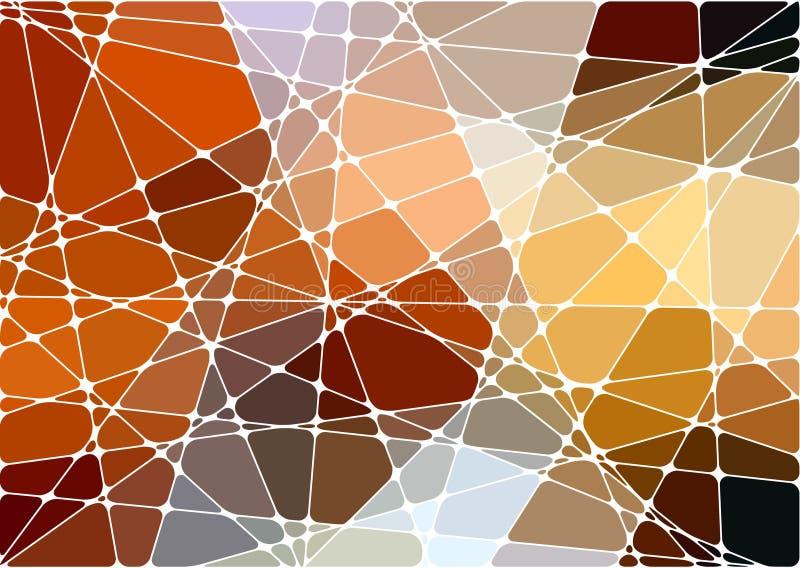 Fond géométrique abstrait de mosaïque illustration stock
