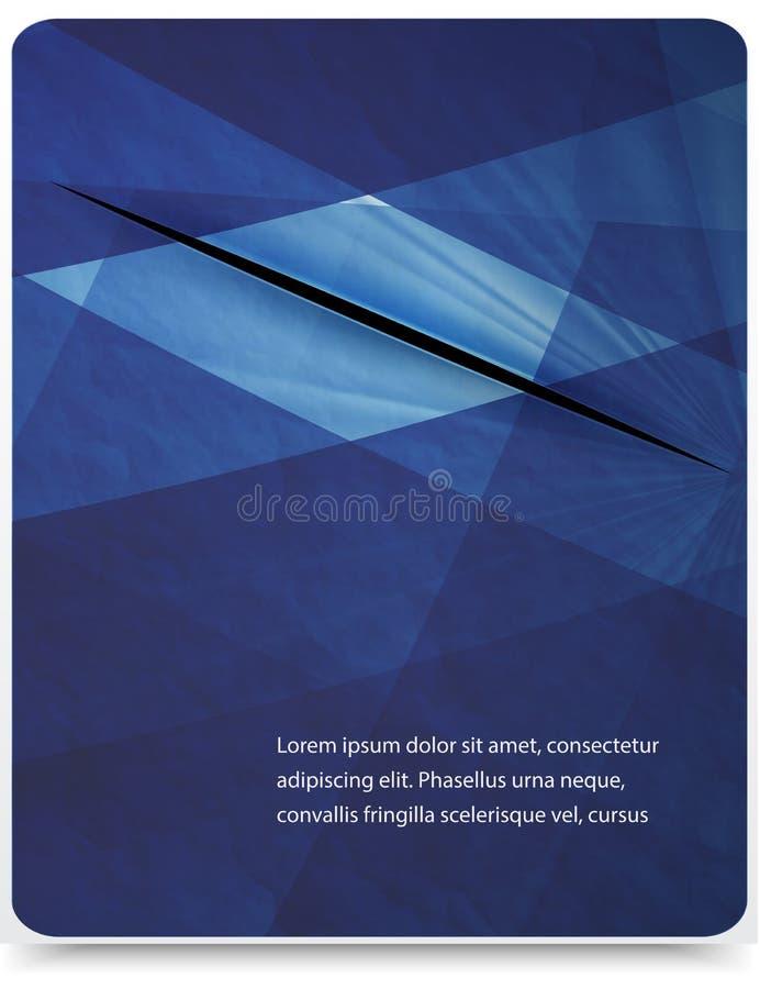 Fond géométrique abstrait de vecteur illustration libre de droits