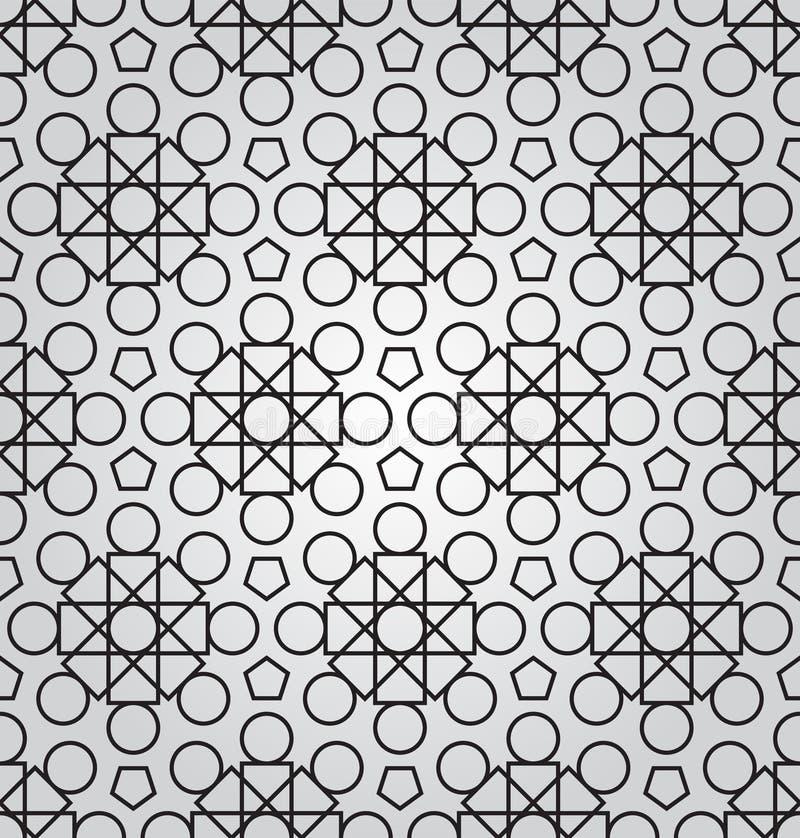 Fond géométrique abstrait de vecteur avec l'ornement de techno illustration de vecteur