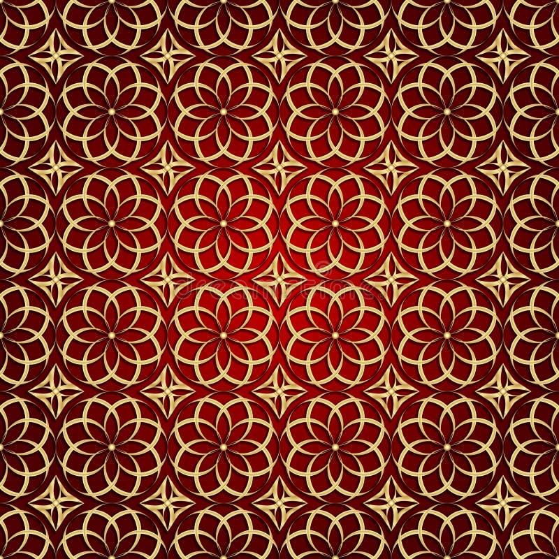 Fond géométrique abstrait de vecteur avec l'ornement ethnique illustration stock