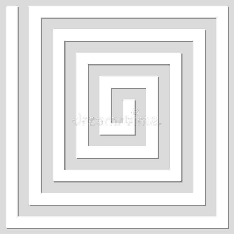 Fond géométrique abstrait des lignes Effet en spirale St moderne illustration libre de droits