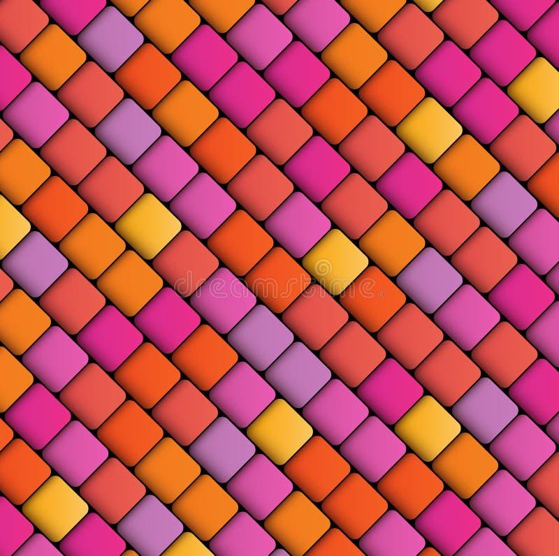 Fond géométrique abstrait des places illustration de vecteur