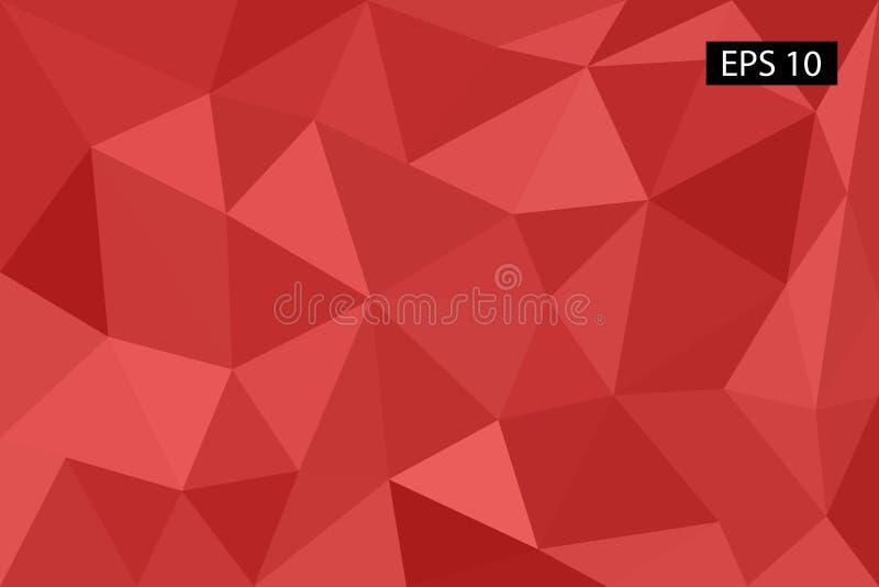 Fond géométrique abstrait, des polygones, triangle, illustration, modèle, calibre triangulaire, géométrique illustration de vecteur