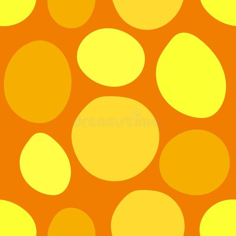 Fond géométrique abstrait jaune illustration de vecteur