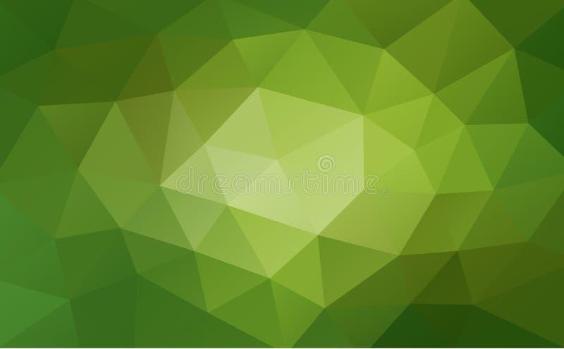 Fond géométrique abstrait vert, poly style triangulaire et bas fripé illustration de vecteur