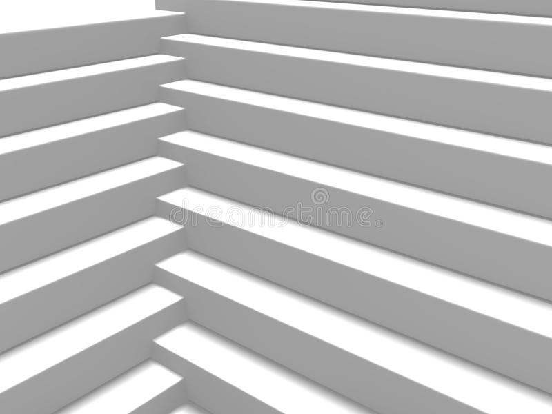 Fond géométrique blanc abstrait de modèle illustration de vecteur
