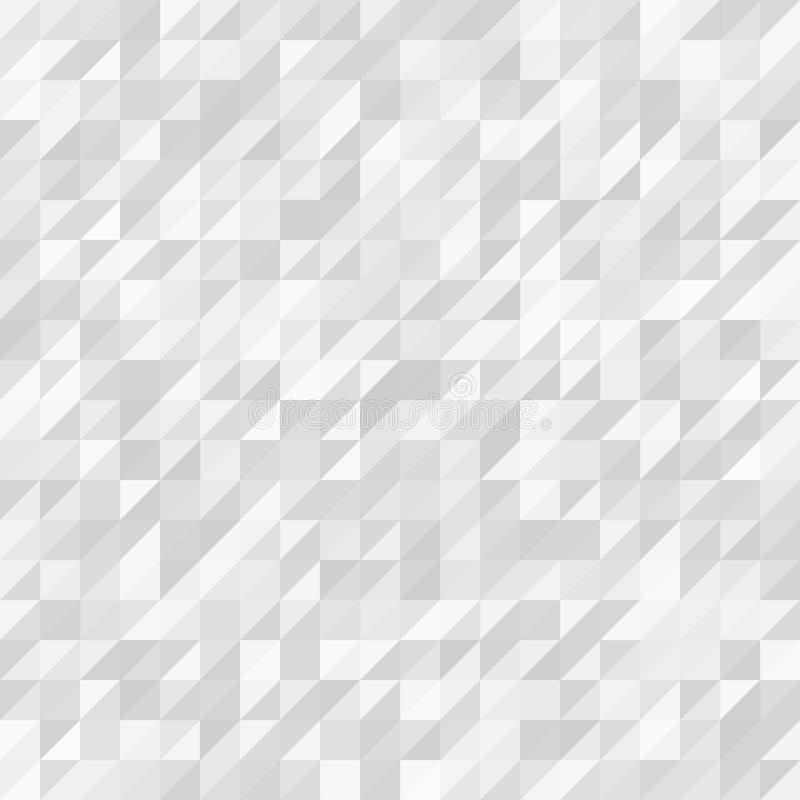 Fond géométrique Blanc et Grey Triangles photographie stock
