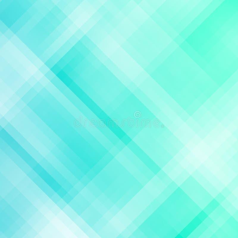 Fond géométrique bleu abstrait de pixel illustration stock