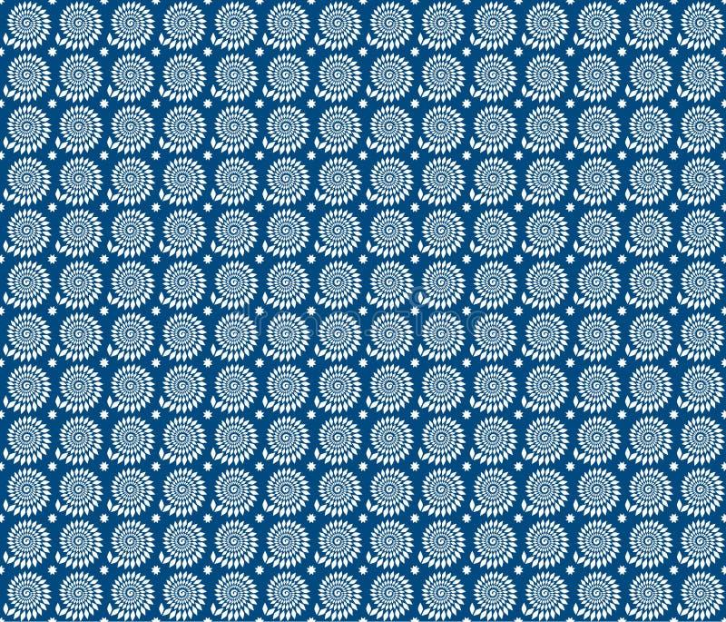 Fond géométrique bleu de vecteur illustration libre de droits