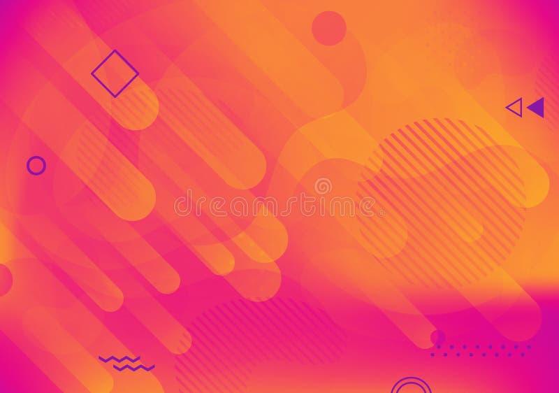 Fond géométrique coloré abstrait moderne Formes avec la composition à la mode en gradients pour votre conception illustration de vecteur