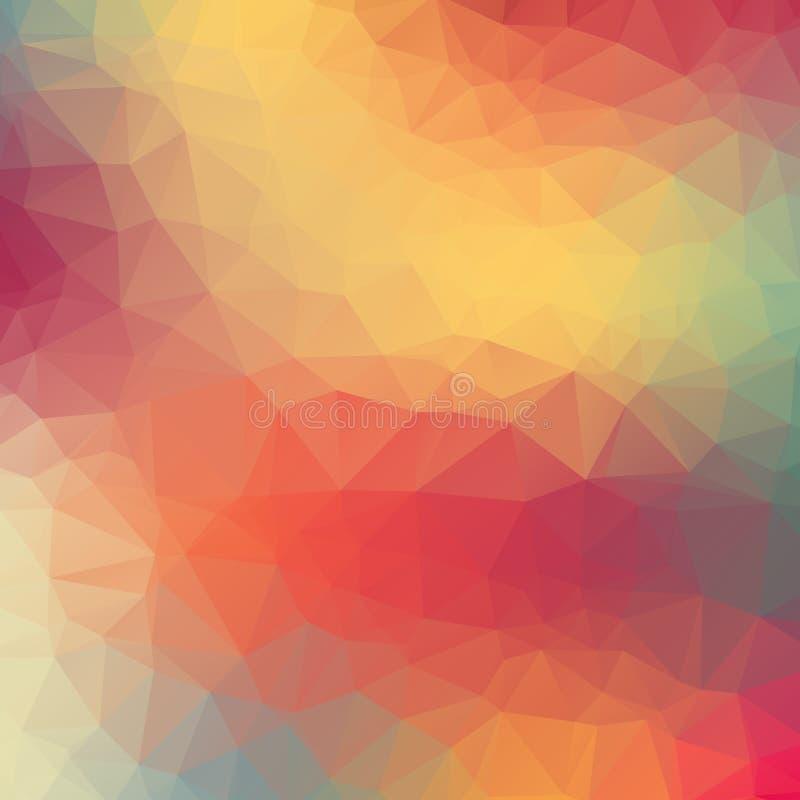 Fond géométrique coloré avec des triangles. illustration de vecteur