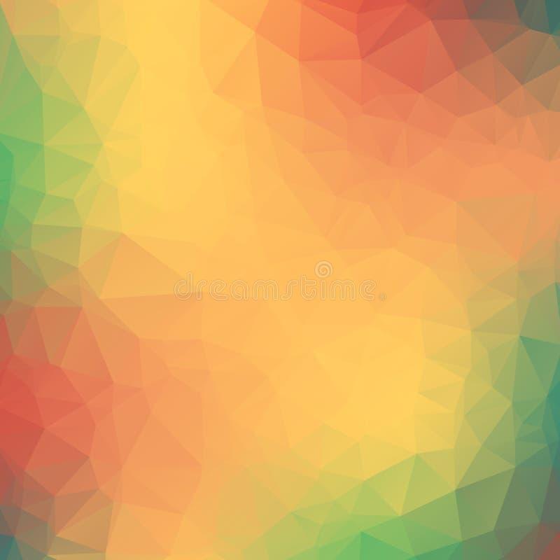 Fond géométrique coloré avec des triangles. illustration stock