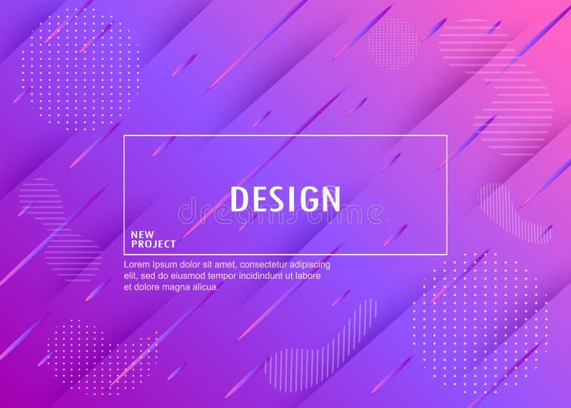 Fond géométrique coloré Composition dynamique en formes Vecto illustration stock