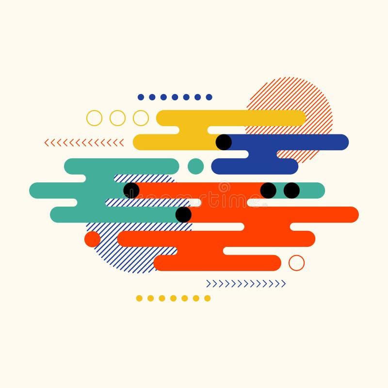 Fond géométrique coloré de calibre de conception d'art moderne de forme de résumé illustration stock