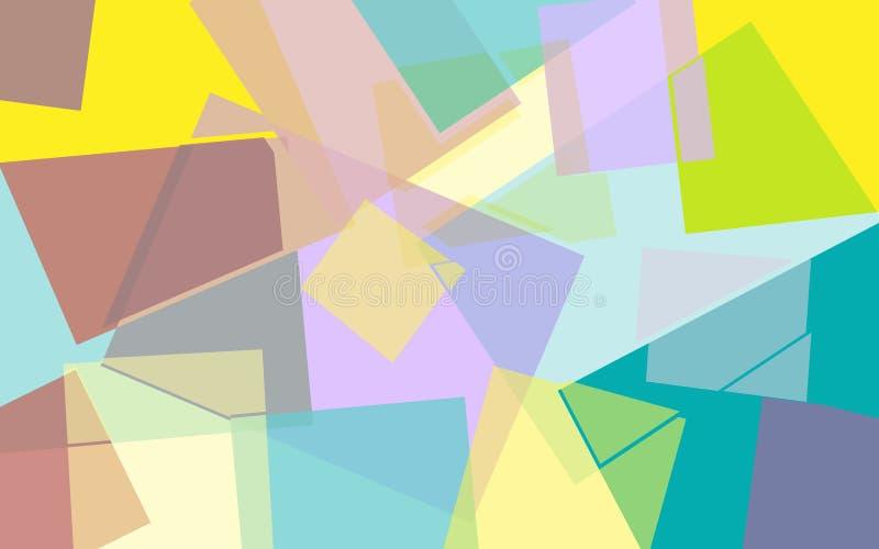 Fond géométrique coloré lumineux abstrait illustration de vecteur