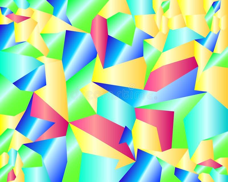 Fond géométrique coloré vif de modèle illustration libre de droits