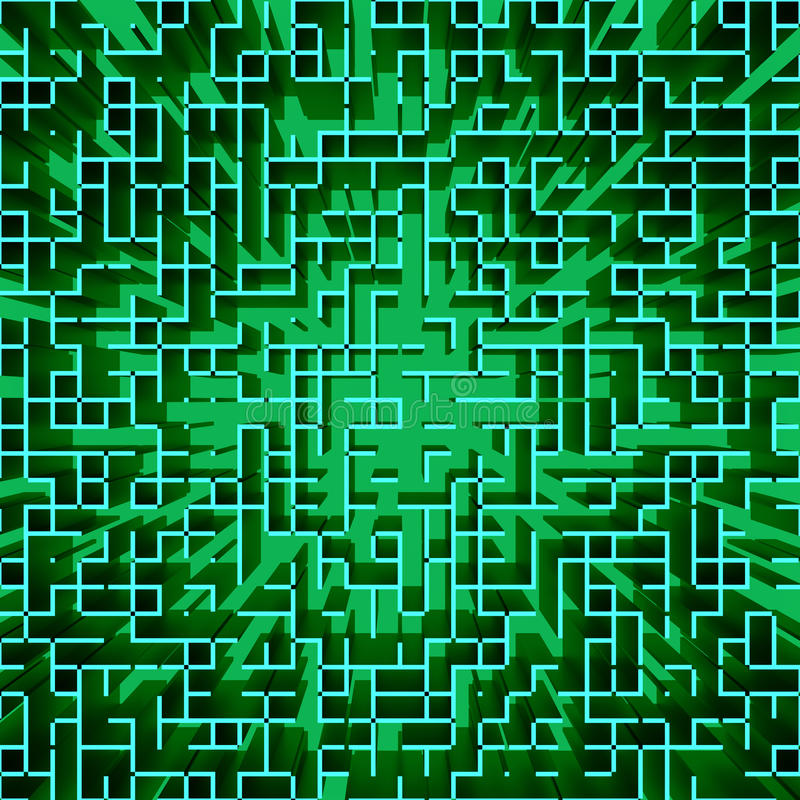 Fond géométrique comme une Matrix de pointe abstrait illustration stock