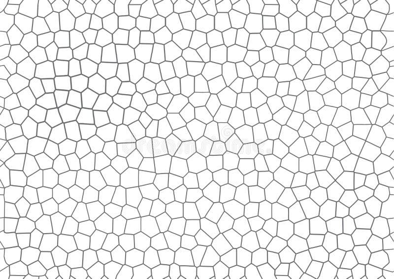 Fond géométrique criqué de vecteur de mosaïque sans couture grise illustration stock