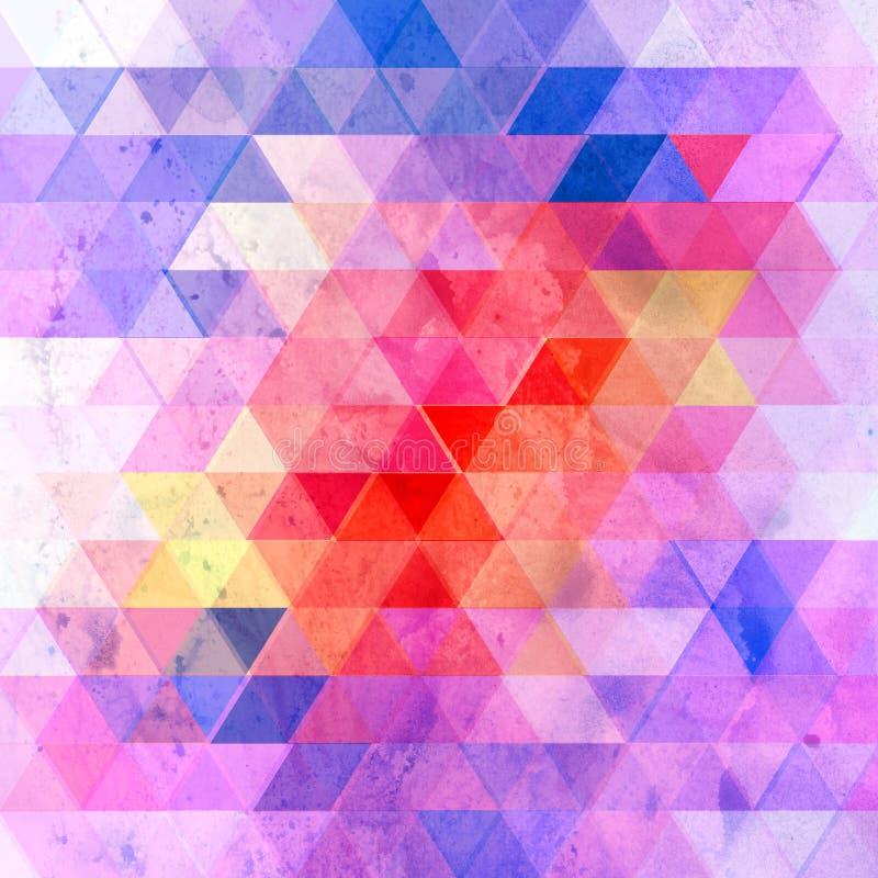 Fond géométrique d'abrégé sur couleur d'aquarelle illustration de vecteur