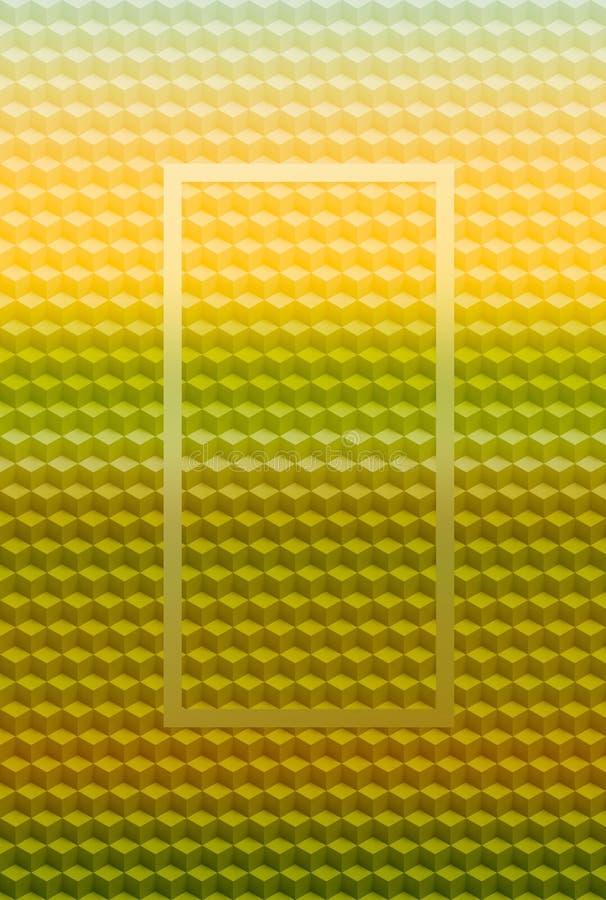 Fond géométrique d'abrégé sur modèle du cube 3D, mosaïque illustration stock